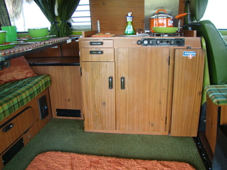 Interior of 1978 VW Bus