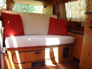 Interior of VW Bus