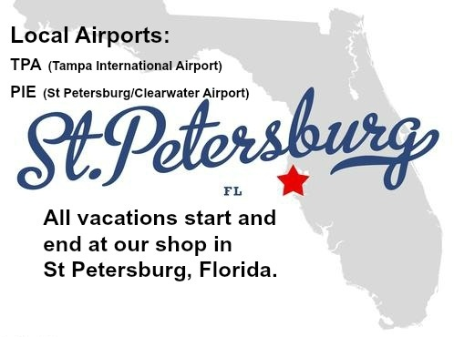 map of St Petersburg, FL