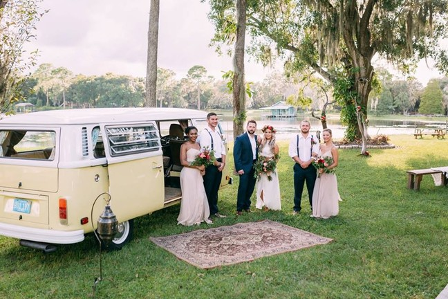 Vintage Wedding. VW Bus, Wedding